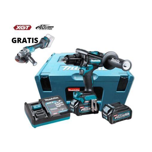MAKITA aku udarna bušilica-odvijač 40V HP001GD201 - set sa 2 baterije 2.5Ah, punjač i kofer