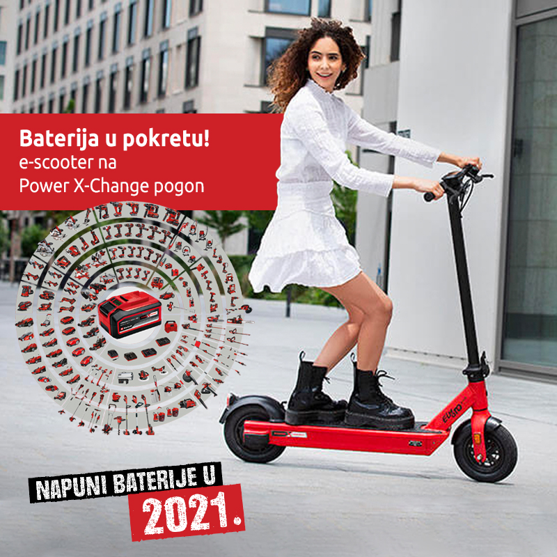 Einhell nagradna igra e-scooter 2020