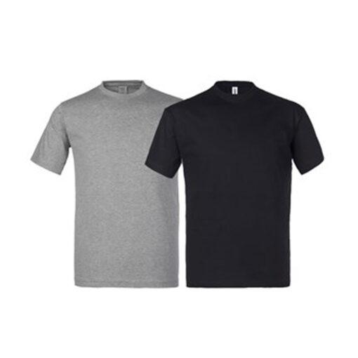 Majica kratkih rukava, set 2-1 (siva i crna)