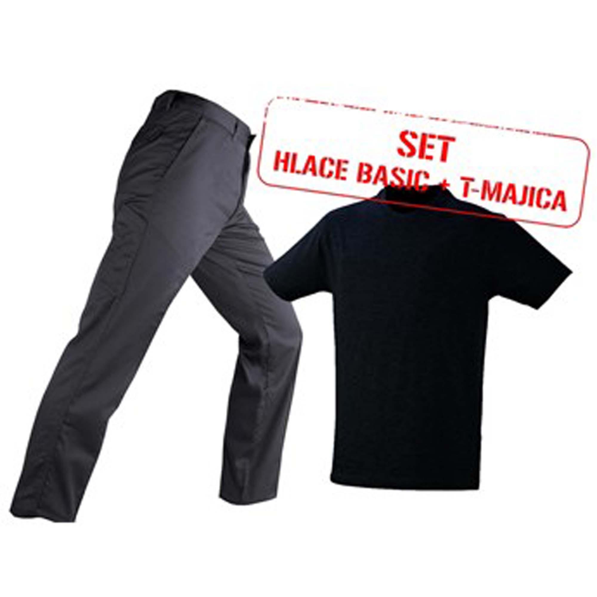 Set hlače BASIC sive T-majica, crna